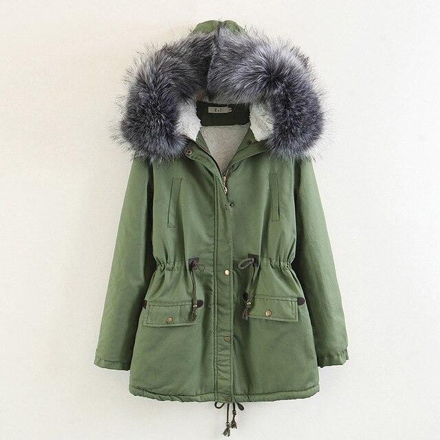 3e01995ba US $52.95 46% OFF|2018 New Parkas Female Women Winter Coat Thickening  Cotton Winter Jacket Womens Outwear Parkas for Women Winter 0703 113-in  Parkas ...