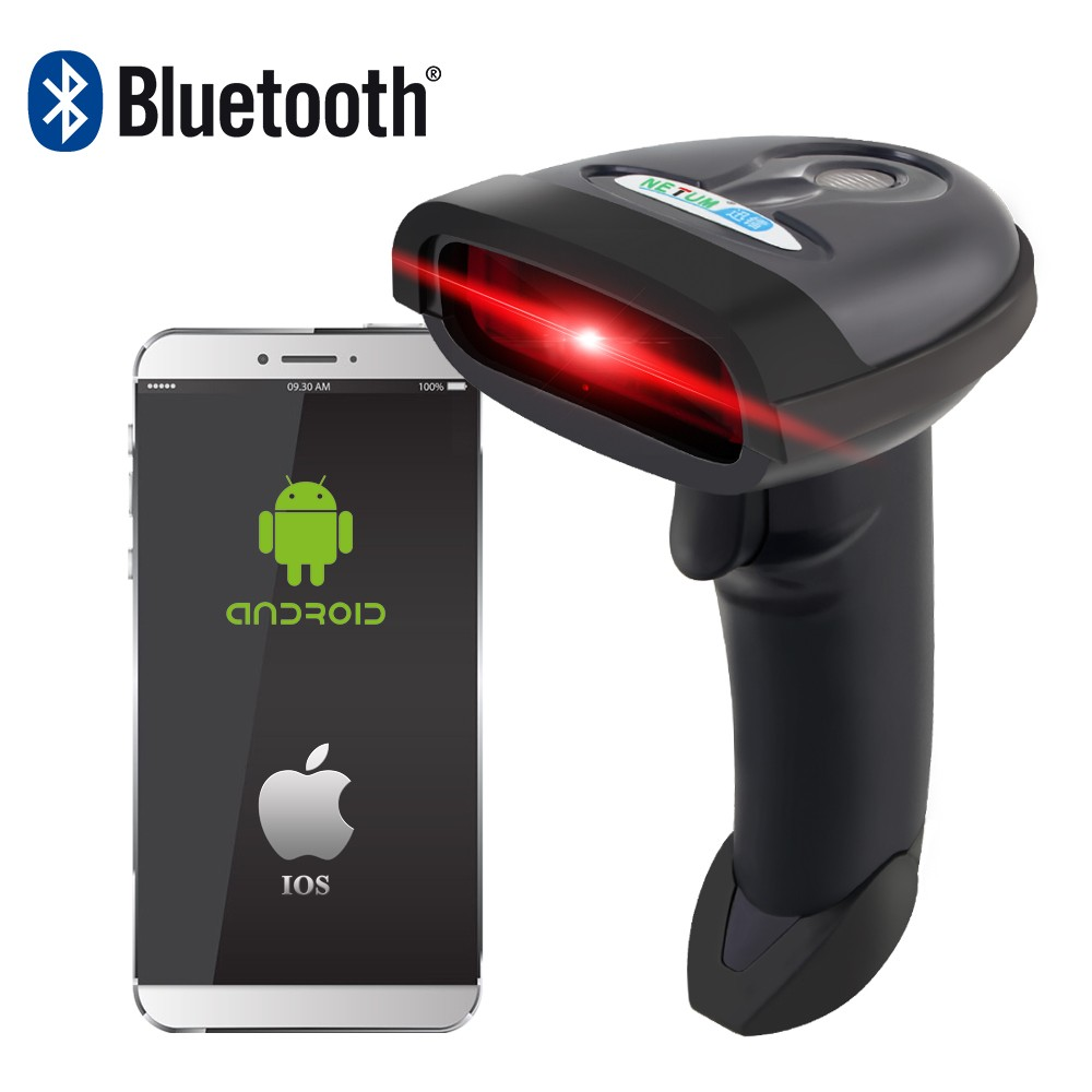 NETUM NT-1698LY Bluetooth Laser Barcode Scanner ET W6-X Portable Sans Fil CCD Bar Code Reader pour Android ios