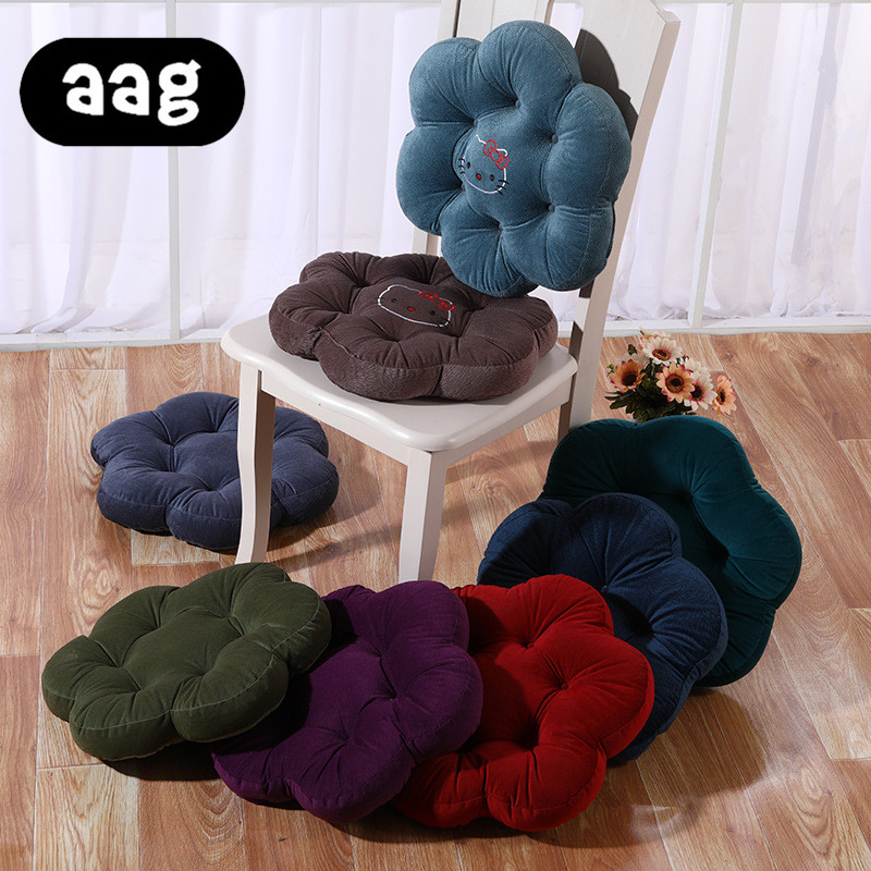 AAG Plum blossom shape Solid Seat Cushion Winter Warm Thicken Chair floor Sitting Pad Office Car Backrest