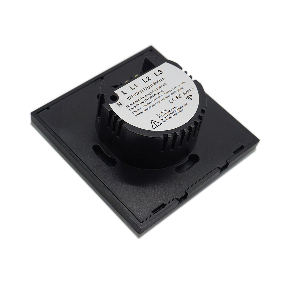 Leepesx eWeLink Bot/ón pulsador Aplique de Pared Interruptor Remoto 1 Gang 86 Tipo Interruptor de Encendido//Apagado Panel 433MHz Transmisor de Control Remoto RF inal/ámbrico con calcoman/ías Posici/ón l