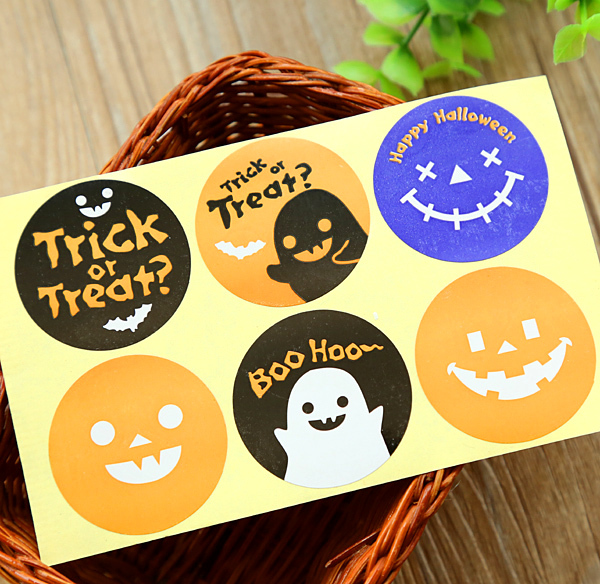 100pcs/lot New Kawaii sticker Halloween Seal stickers Gift Sticker Wholesle (aa-617) leaves shaped memo sticker 100pcs