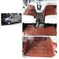Envío libre de cuero alfombra del piso del coche para nissan nv200 2010-2017 Chevrolet City Express Nissan Evalia Nissan NV200 Vanette