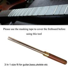 Baroque Diamond Guitar Fret Crowning Dressing File Narrow/Medium/Wide 3 Edges Guitar Repairing & Luthier Tools