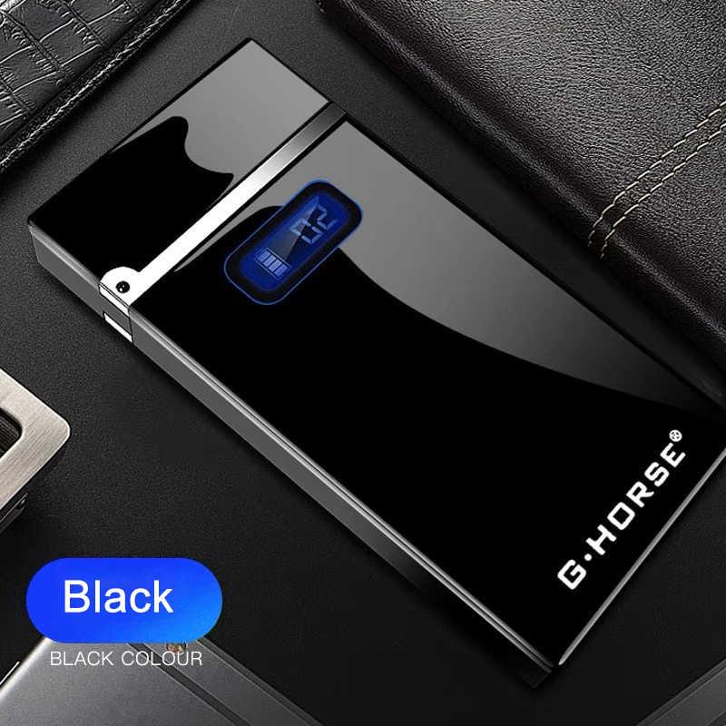 2019 nouveau briquet électrique avec affichage de alimentation LED USB chargeur allume-cigare coupe-vent Arc briquets Plasma Gadgets pour hommes