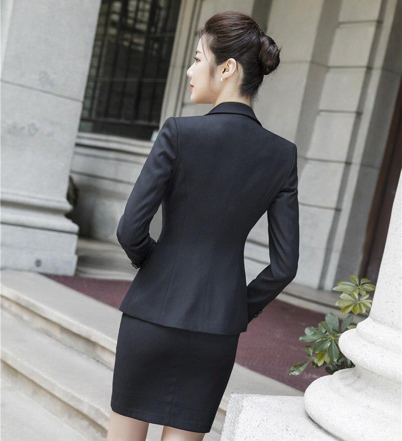 3 Veste Pièce Dames Qualité black Manteau Ensembles Hauts Formelle Avec Complet Grey Femmes Haute Gilet Jupe Tissu Et De Bureau Blazer nA8wZCq0cO