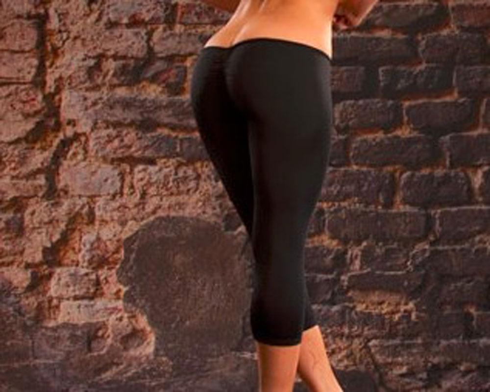 Sexy Super Low Waist Cropped Cut B   Capris   Trousers   Capris   Women   Pants   Slimming Solid Black White   Pants