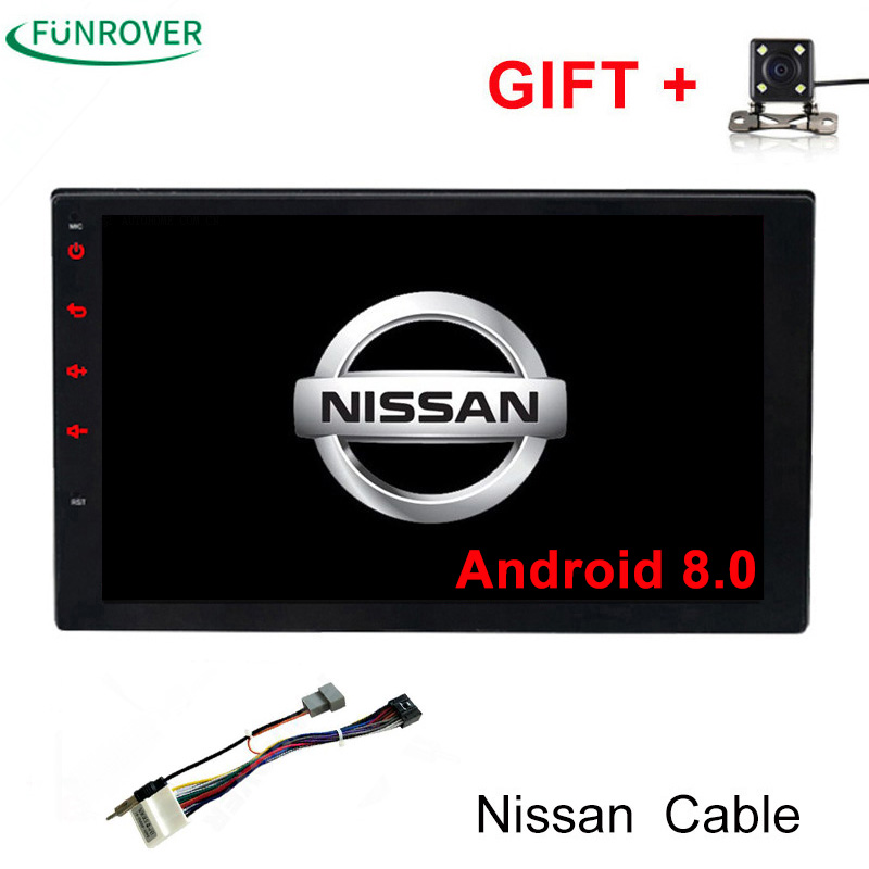 Funrover 2g 32g 2Din Android8 0 Car Dvd For Nissan Qashqai X Trail Almera Pathfinder Teana