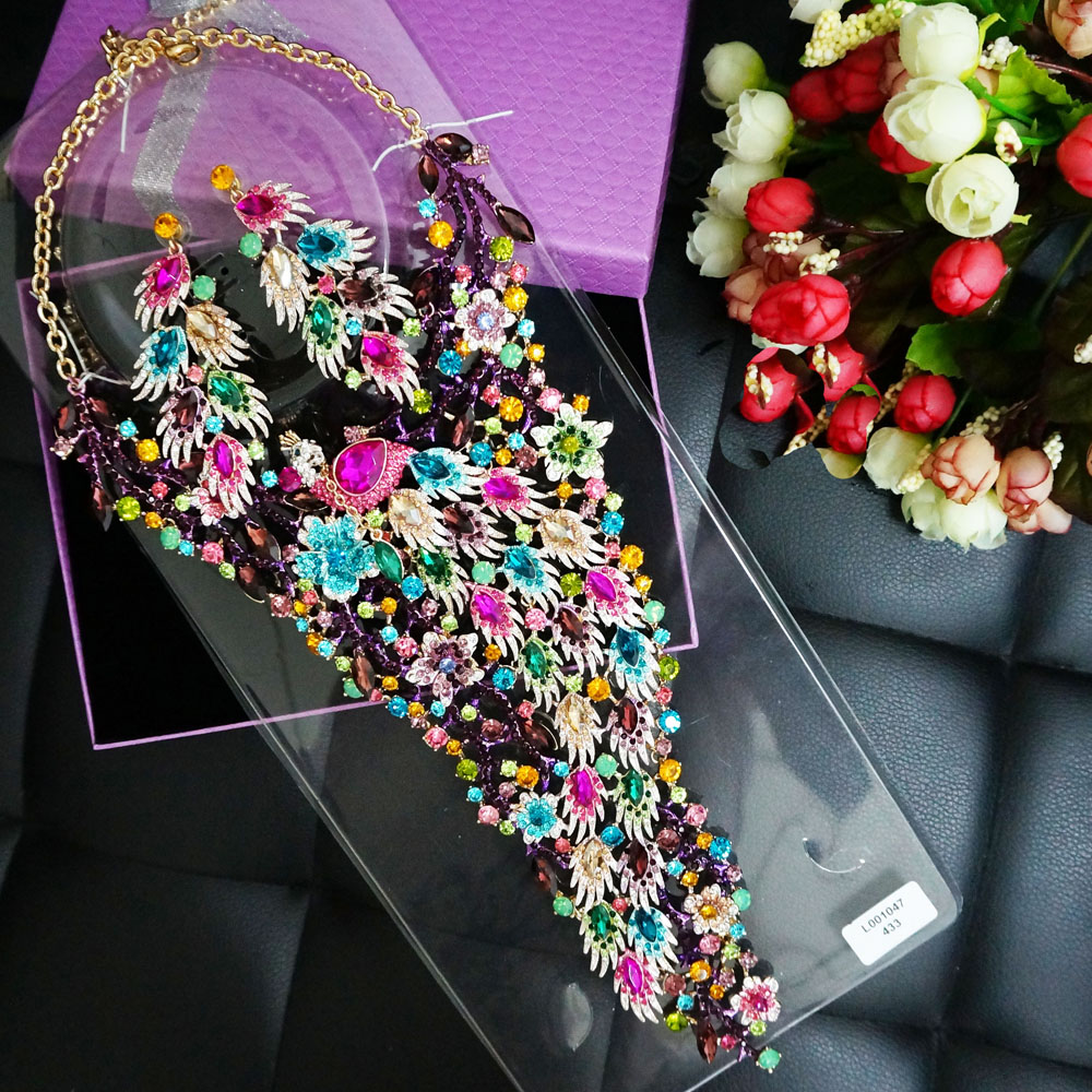 african jewelry sets jewelry accessories bridal jewelry sets WOMEN necklace colour stone necklace WEDDING SETS african patterns to colour