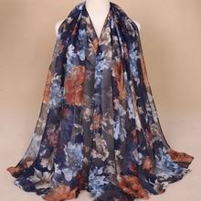 Printed cotton hijabs for women Casual Long Scarf Anti uv Muslim Hijab Arab Wrap Shawl Headwear 180x85cm