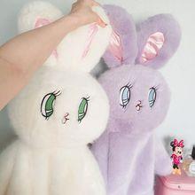 2017 Плюшевый Кролик Рюкзак для Женщин Милый Кролик Рюкзаки для Девочек-Подростков Лолита Кукла Каваи Рюкзак mochilas femininas L748