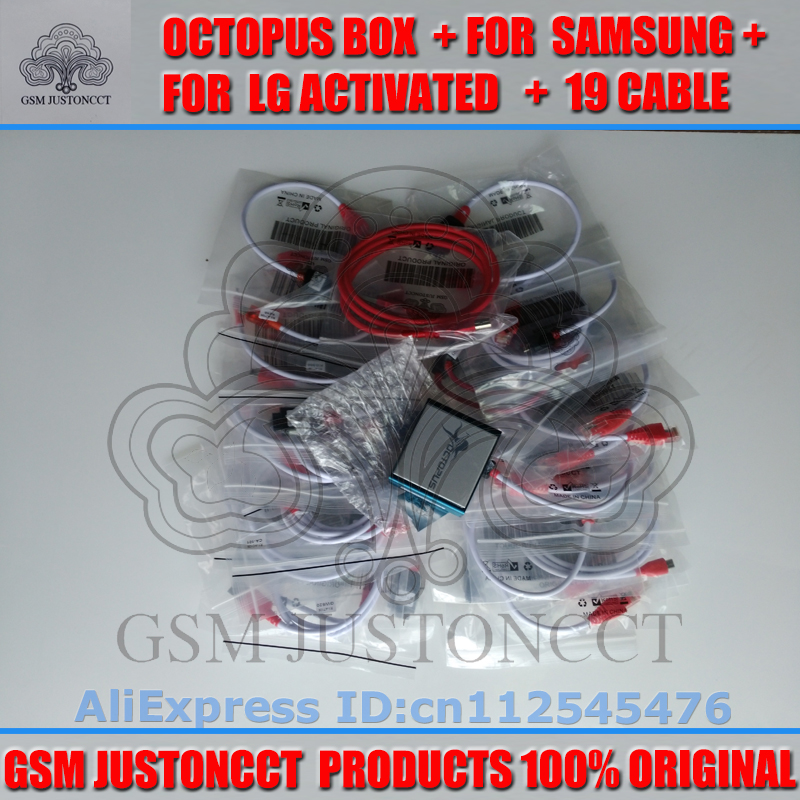 The Newest version 100% Original Octopus box for Sam&LG Full with 19 cables  With Optimus Cable