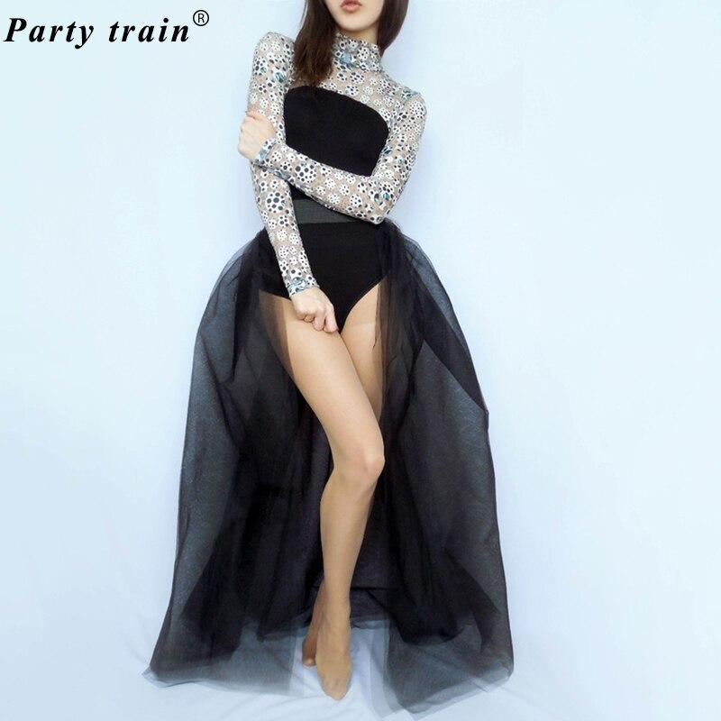 5837e44edc3c6b 4Layers Black Overlay Skirt Fashion Long Tutu Tulle Skirt Bride Overskirt  Chic Floor Length Saia Longa Detachable Wedding Skirts