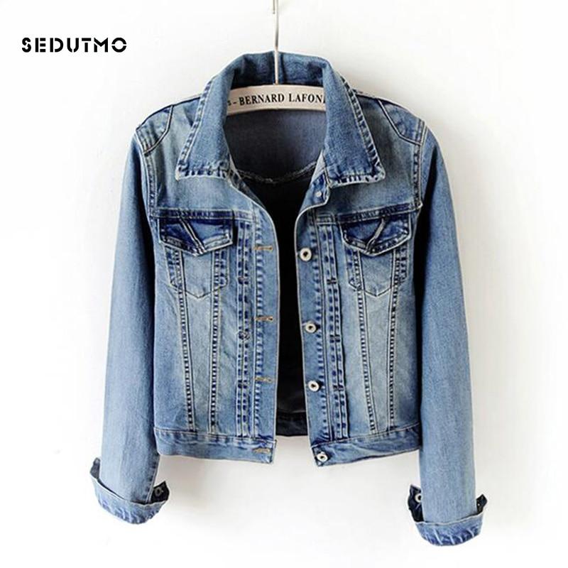 SEDUTMO 2018 Plus Size 5XL Jean   Jacket   Women Boyfriend Denim Coat Streetwear Harajuku Vintage Autumn   Basic   Outerwear ED199