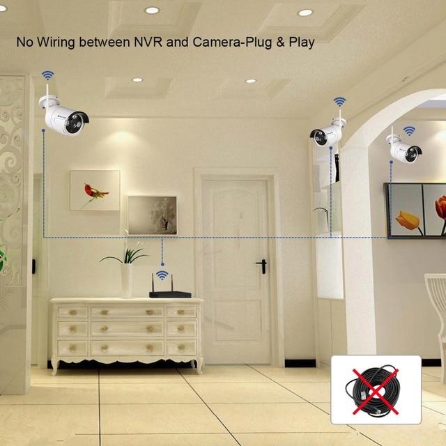 Techage Plug&Play 1080P HDMI Wireless NVR WIFI CCTV System 960P HD 1.3MP Outdoor Security IP Camera Surveillance Kit APP View