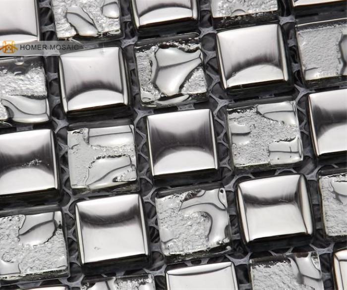 ᐂEnvío libre! Gris claro azulejos de mosaico de vidrio 12x12 ...