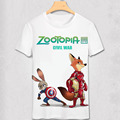 Zootopia T Shirt New Cartoon Summer Men T-shirt Nick Fox Judy Rabbit 3D printing civil war design top tee Kcco Tshirt lover gift