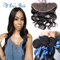 13x4 Ear to Ear Lace Frontal Closure With Bundles Body Wave Full Lace Frontal Closure Brazilian Wavy With Baby Hair 8-26inch