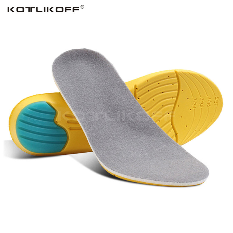 KOTLIKOFF 1 piar High Quality Memory Foam Shock Absorption Cushion Breathable Running Athletic Insoles for Shoes Men Women peak sport speed eagle v men basketball shoes cushion 3 revolve tech sneakers breathable damping wear athletic boots eur 40 50