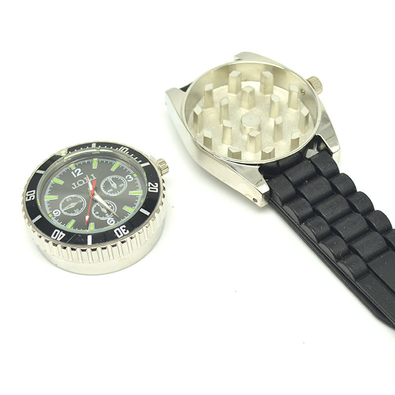 1pcs 2017 fashion Wrist Watch grinder Cigarette Tobacco Herb weed Crusher Metal watch GR ...