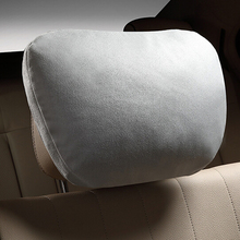 Car Headrest Pillow Maybach Design S Class Ultra Suede Fabric Soft For Mercedes-Benz