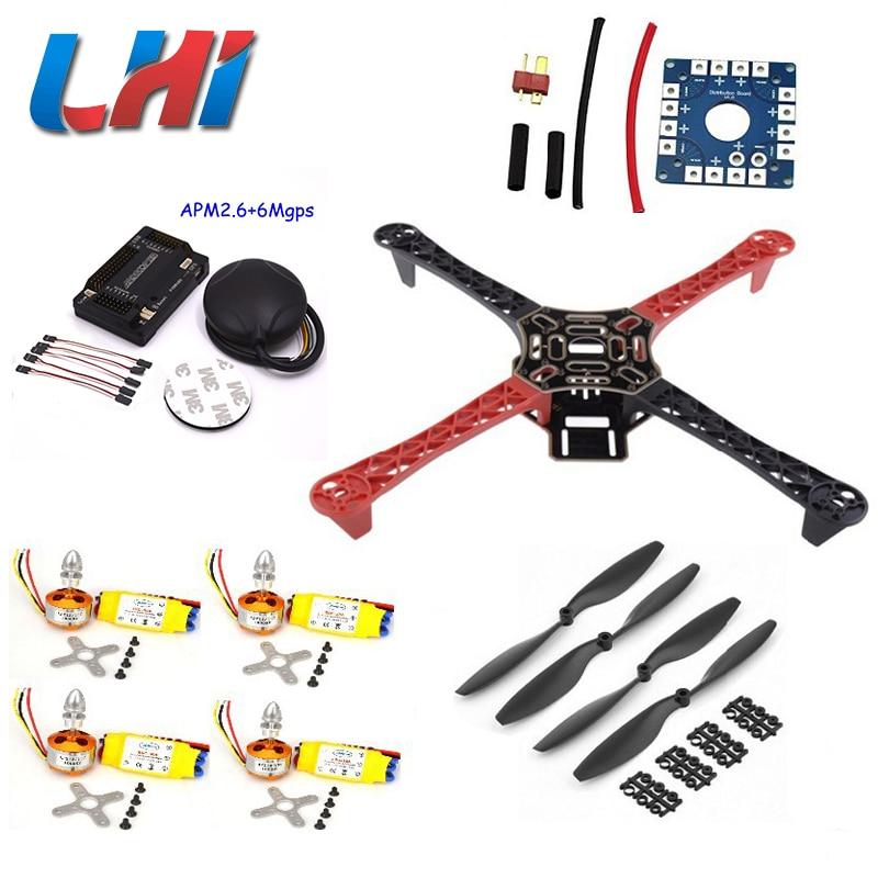 F450 Quadrirotor Chaude Rack Kit Cadre Apm2.6 Et 6 m Gps 2212 1000kv 30a 1045 Prop ~ f4p01 Quadcopter