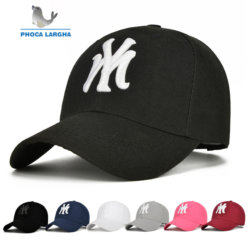 New   Baseball     Cap   New Unisex Cotton Outdoor Hat NY Embroidery Snapback Fashion Sports Hats For Men & Women Hockey Adjustable   Caps