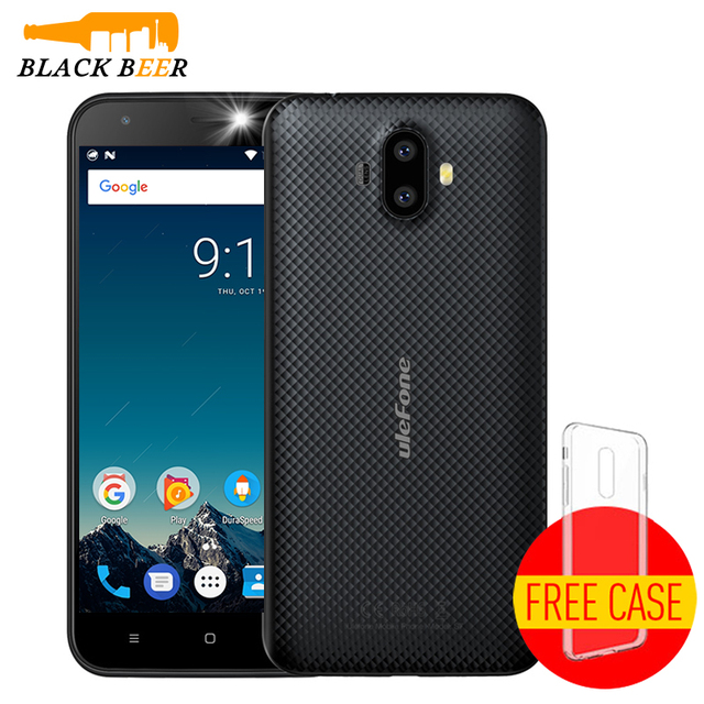 """Ulefone S7 Mobile Phone MTK6580A Quad Core Android 7.0 Cellphone Dual Camera 5.0"""" HD 1G RAM 8G ROM 8MP+5MP 3G WCDMA Smartphone"""