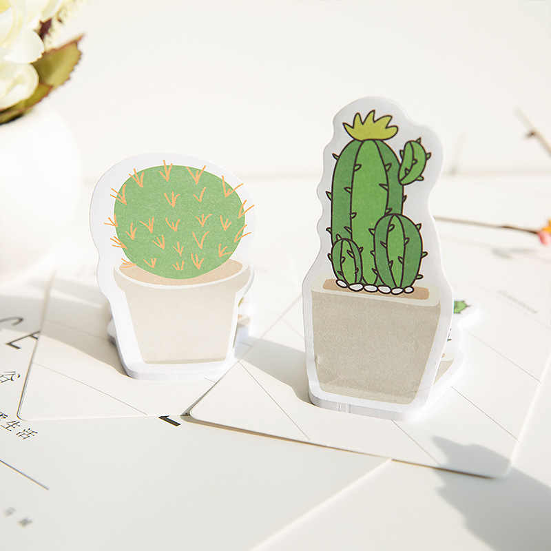 Coreano creativo pegajoso cactus notas adhesivas esta etiqueta notas de papel n veces etiquetado pegatinas