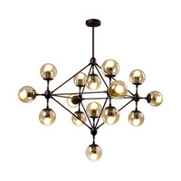 Modern led molecular chandeliers bubble smoky glass ball star crystal lamp branch tree stylish hanging lights fixture livingroom