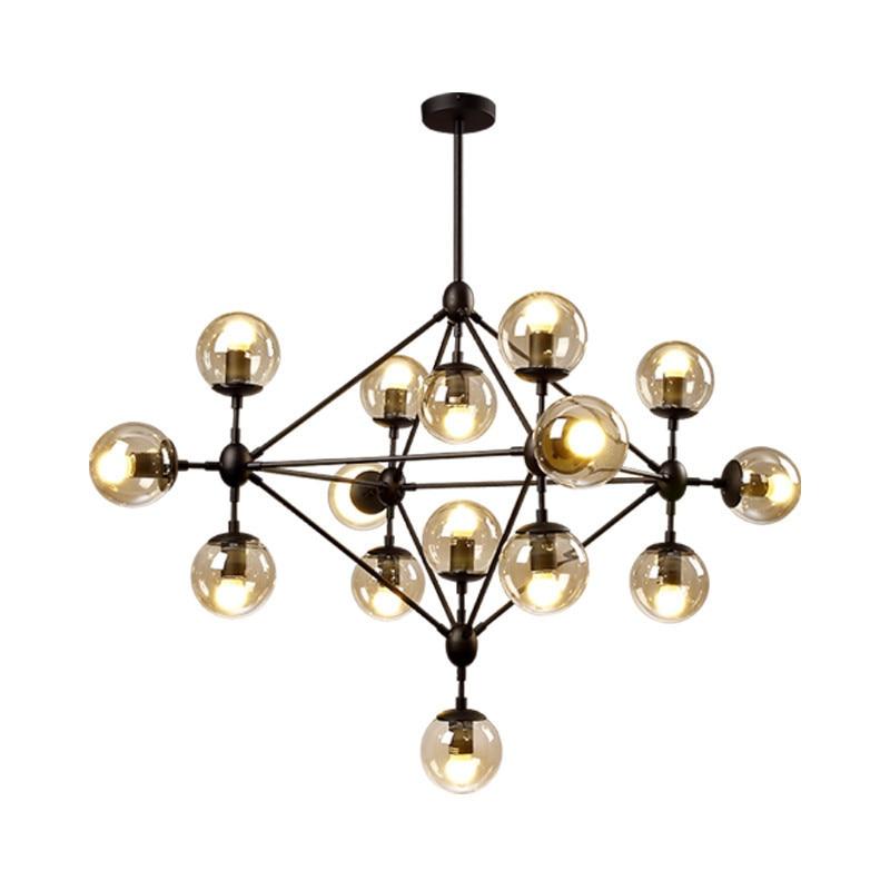 Moderne led lustres moléculaires bulle fumée boule de verre étoile cristal lampe branche arbre élégant suspendus luminaires salon