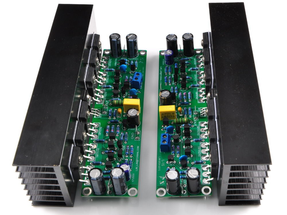 цена на Assembled L15 2-channels MOSFET power amplifier board with heatsink