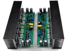 Assembled L15 2-channels MOSFET power amplifier board with heatsink fp10000q mosfet audio power amplifier with blue circuit pcb board