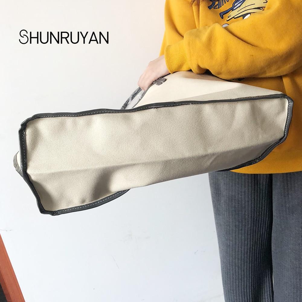SHUNRUYAN Nouvelle PU sacs à main pour femme Sac sac à bandoulière Femme décontracté Fourre-Tout Femmes sac de messager Ensemble - 5