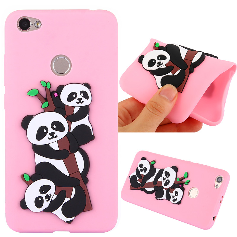 3D Cute Cartoon Animal Panda Phone Case Rubber Ultra Slim Soft TPU Silicone Cover For Xiaomi Redmi Note 4A 5A 5A CapaCapa Coque
