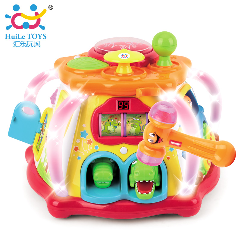 Baby Toys Multifunctional Happy Little World Toy with Music / Lights / Games Musical Activity Cube Play Music Toys for Children