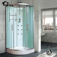 800mm Shower Cubicle Non Steam Enclosure Bath Room Cabin Corner Cubicle Shower Cabin Luxury Glass Shower