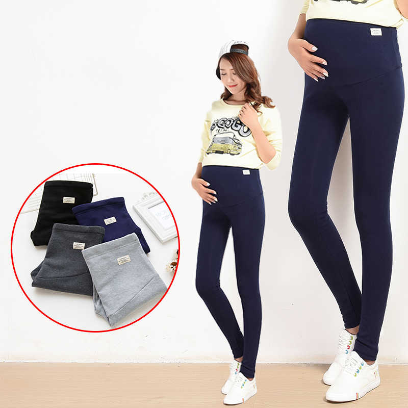 Yuanjiaxin Sommer Bauch Dünne Mutterschaft Legging in Elastische Baumwolle Verstellbare Taille Bleistift Schwangerschaft Hosen Kleidung für Schwangere