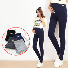 Yuanjiaxin Summer Belly Skinny Maternity Legging in Elastic Cotton Adjustable Waist Pencil Pregnancy Pants Clothes for Pregnant