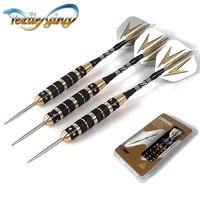 3pc/lot Professional 25 grams Steel Tip Darts Hard Brass anti fall Darts with Free Carry Case High Quality Darts for Games Set