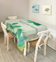 Modern style 3D tablecloth waterproof and oilproof thick rectangular wedding table cloth family coffee table cloth