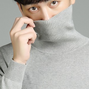 Image 3 - Varsanol Casual Turtleneck Sweater Men Pullovers Autumn Fashion Style Sweater Solid Slim Fit Knitted sweaters Full Sleeve Coats