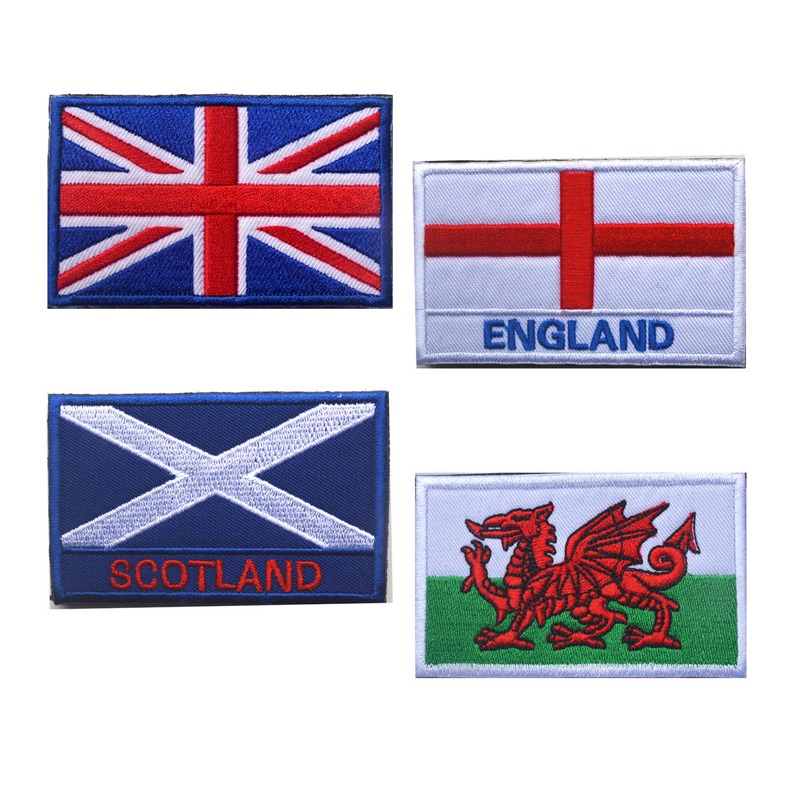 Wales National Flag Iron on Sew on Embroidered Patch Badge For Clothes Etc