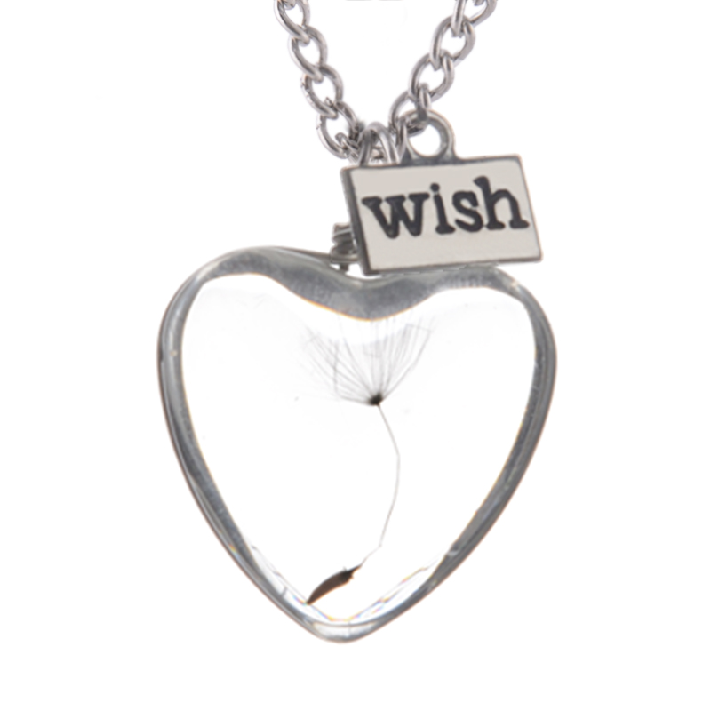 Heart Vial Necklace with seed