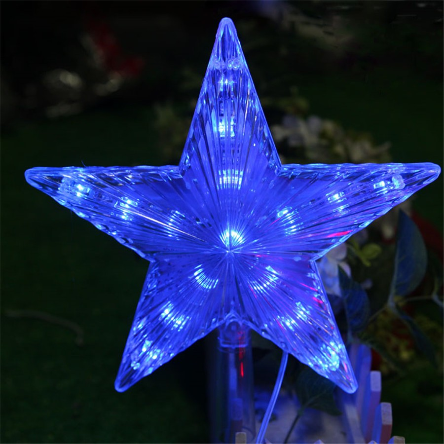 все цены на 8 Modes Play LED Star Light 20CM Big Star Waterproof LED Single String Light AC110V 220V Hang on Christmas Tree Decoration Light онлайн