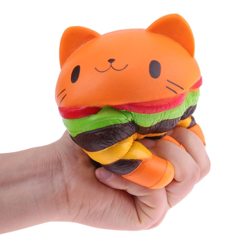Squeeze Toys for Children Slow Rising Cream Scented Lovely Cartoon Cat Bread Stress Reliever Toy Gift