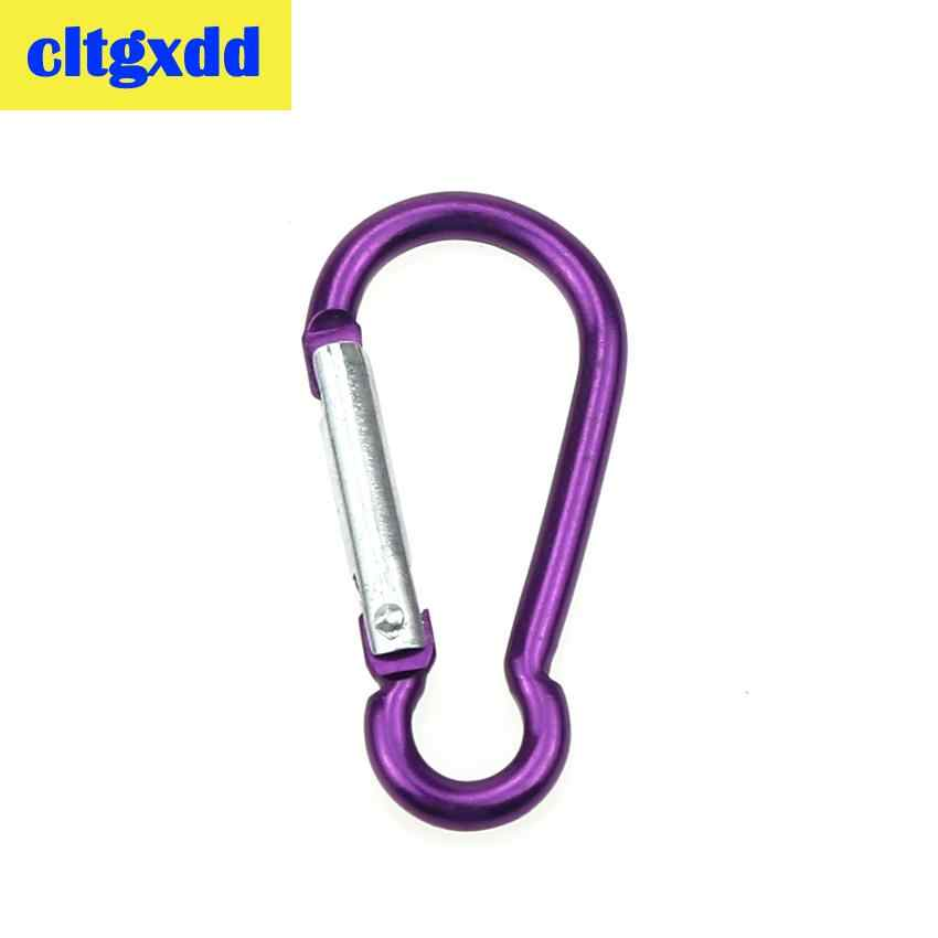 Cltgxdd paquete Multicolor de aluminio de resorte mosquetón gancho de suspensión de juego máquina llavero Camping botella de agua mochila bolsa partes
