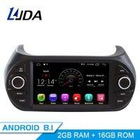 LJDA 1 din Car Radio Android 8.1 Car Multimedia Stereo For Fiat Fiorino Qubo Citroen Nemo Peugeot Bipper WIFI IPS GPS Navigation