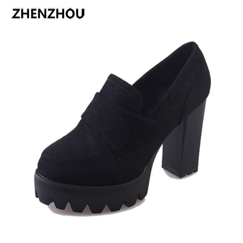 zhen zhou2017 spring and autumn women's new fashion trend leadership High heels stylish waterproof platform Round head high heel pamela mccauley bush transforming your stem career through leadership and innovation
