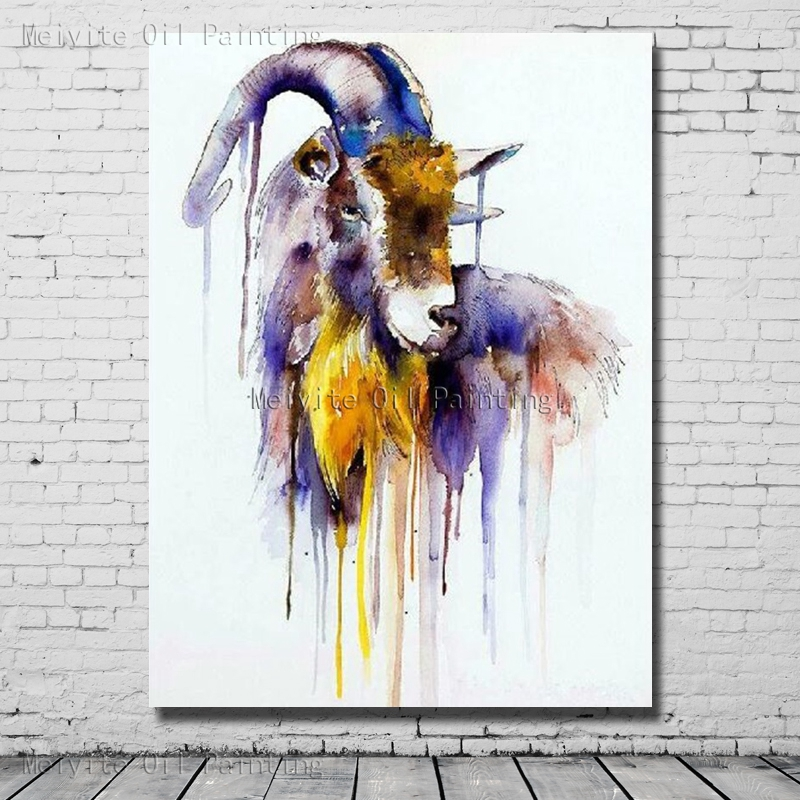 1 Peices Handpainted Oil Painting Abstract Sheep Wall Art Painting On Canvas Wall Pictures For Bedroom Decor no Framed Art
