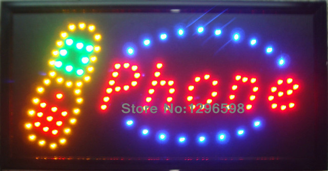 CHENXI New arriving led phone shop open sign 10X19 Inch Graphics Animated motion Running of Led neon phone open sign